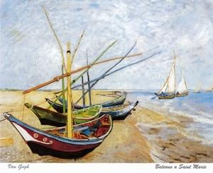 A3 Van Gogh´s Vissersboten bij Les Saintes-Maries-de-la-Mer