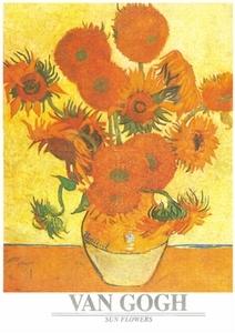 A3 voorbeeldplaat puzzel Van Gogh´s Zonnebloemen