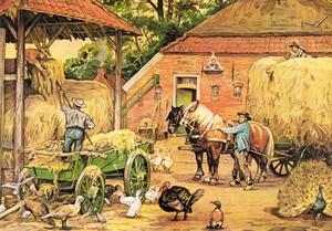 Voorbeeldplaat puzzel de Laatste Hooivracht