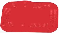 Antislip placemat, rood 35 x 25 cm