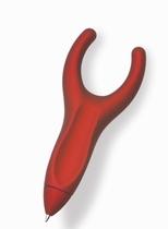 Pen-again met antisliplaag, rood