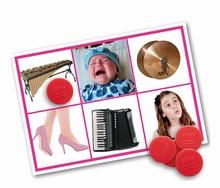 Geluiden(lotto) Mensen en muziekinstrumenten