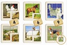 Set van 6 Dierenpuzzels