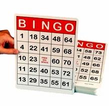 Jumbo bingokaarten met grote opdruk
