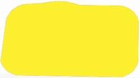 Antislip placemat, geel 35 x 25 cm