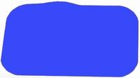 Antislip placemat, blauw 35 x 25 cm