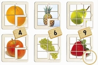 Set van 6 Fruitpuzzels
