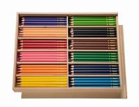 Grote droehoek kleurpotlodenset/ 144 stuks